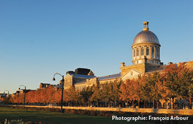 Marché Bonsecours seen from the old port. Photo credit François Arbour