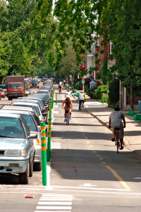 Photo of a bicycle path